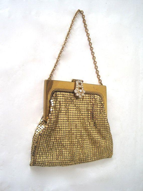 Whiting & Davis Gold Mesh Handbag - Circa 60s IpffpznWw