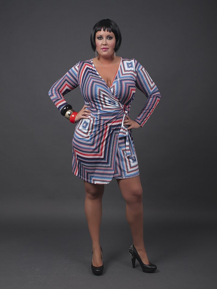 stretch dress from Caremo Collezioni | Plus Size | Pinterest