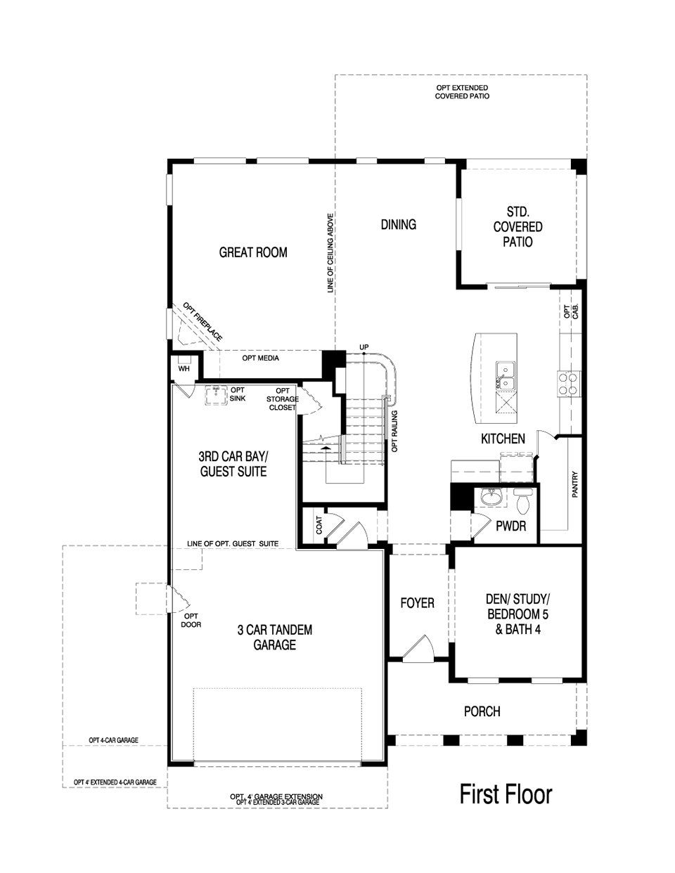 Pulte homes topaz floor plan via for Hangar home floor plans