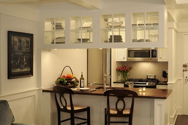 See thru kitchen cabinets for a light and bright kitchen | Kitchen ...