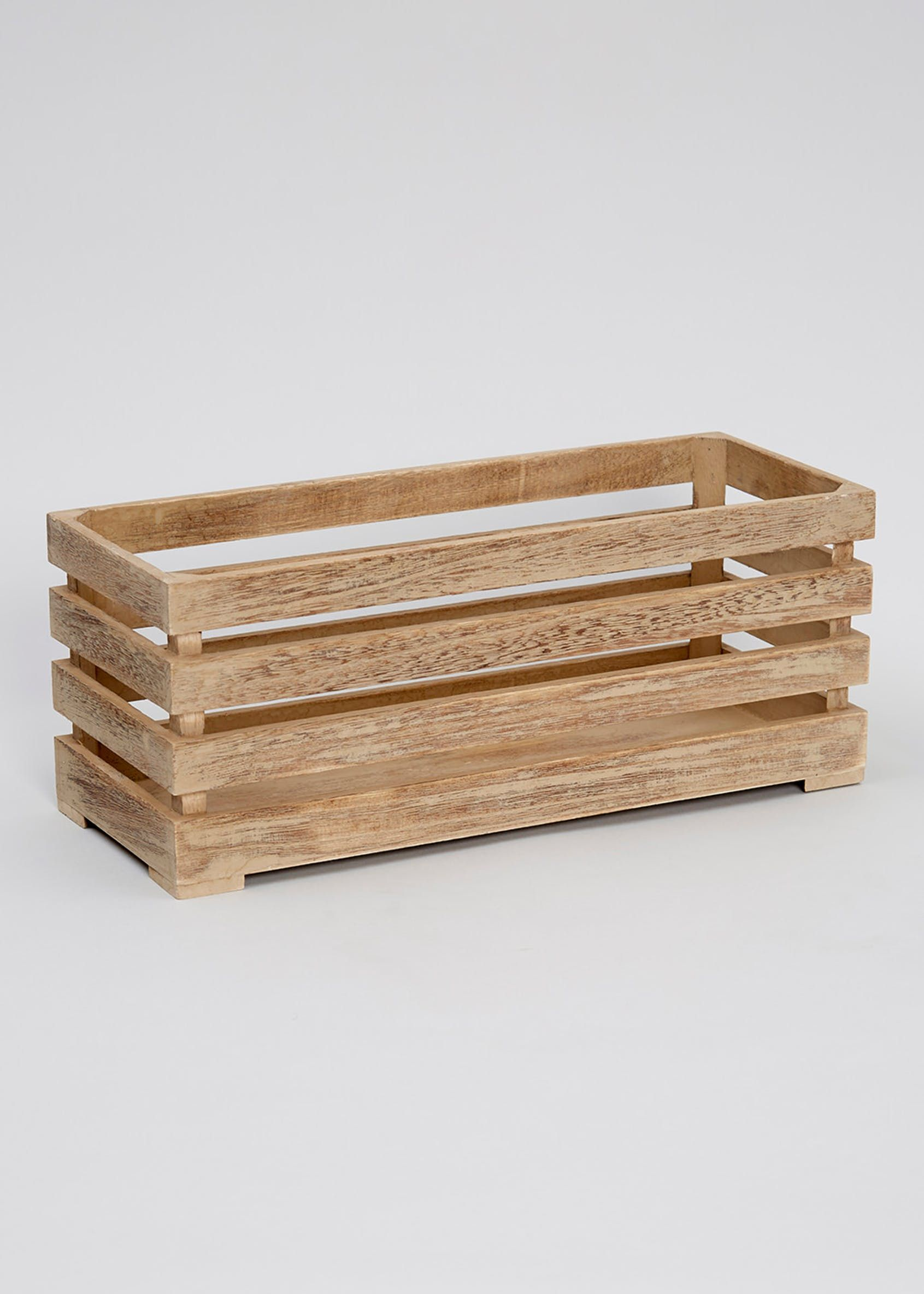 Wooden Storage Crate (38Cm X 15Cm X 15Cm)