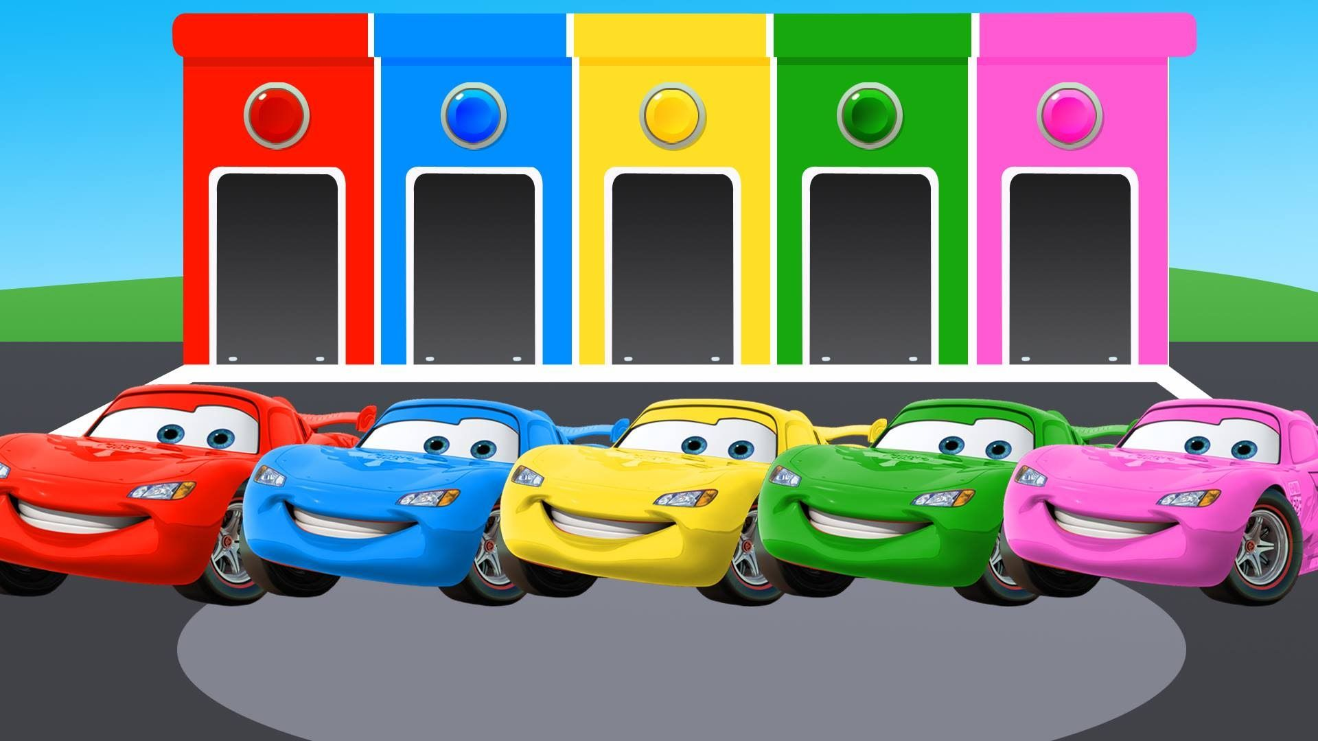 Lightning Mcqueen Learn Colors With Mcqueen Cars Cartoon Colours