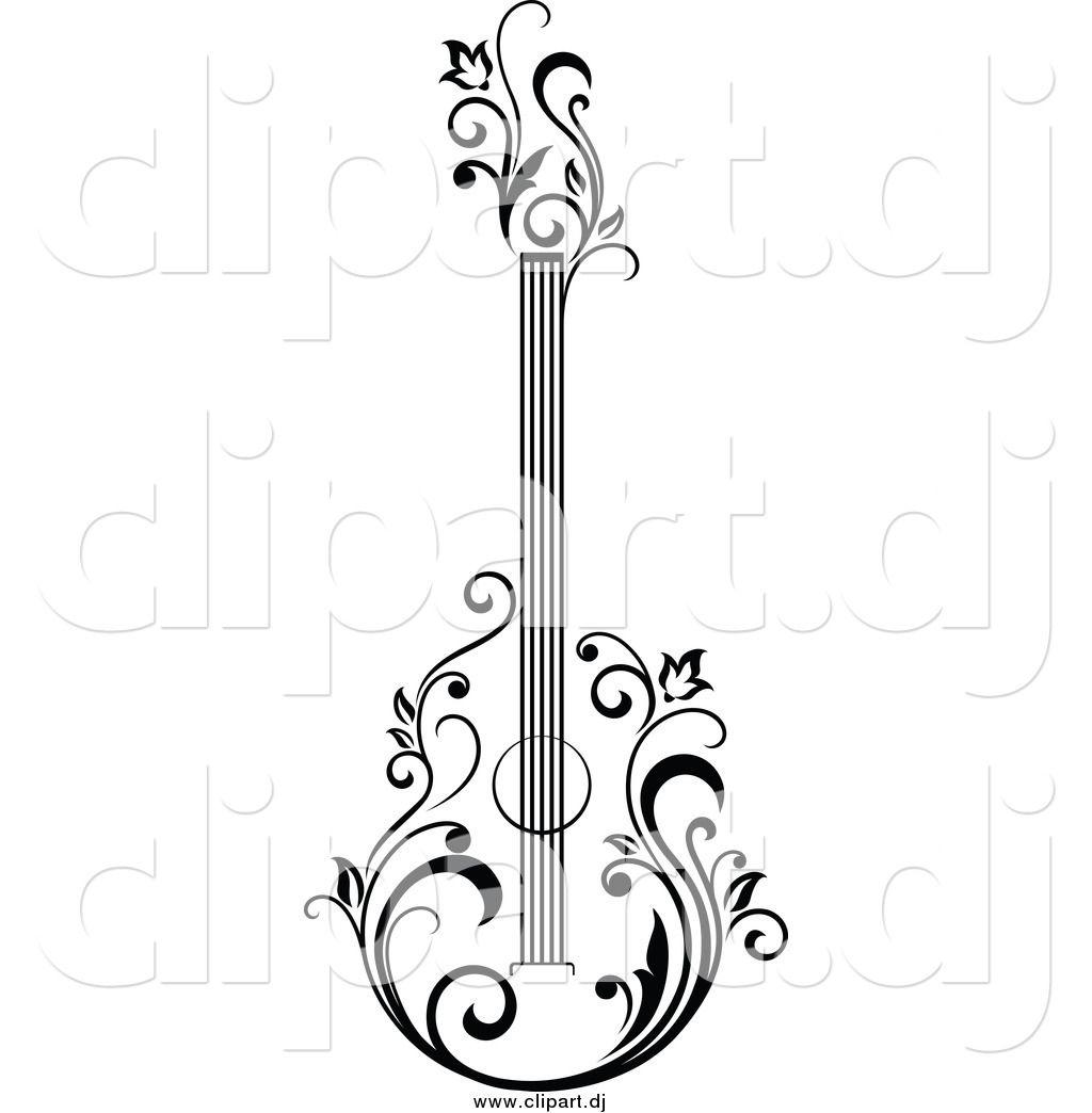 Bass Guitar Art Sketch