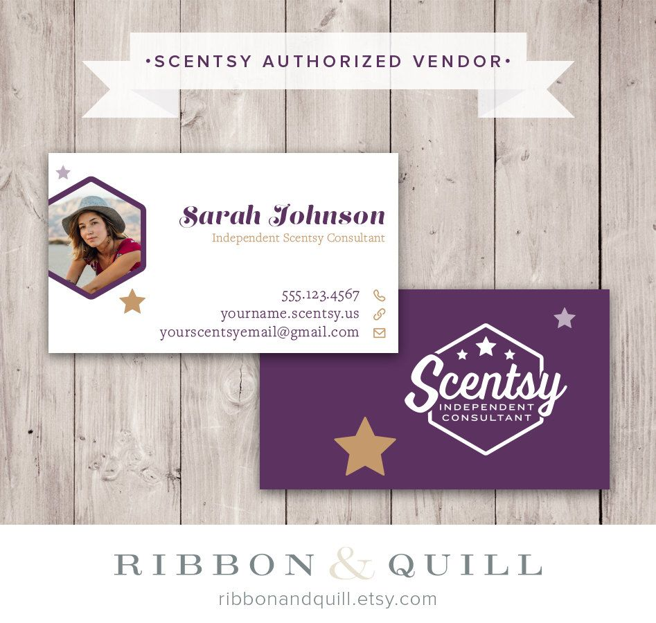 Authorized Scentsy Vendor • Scentsy Stars Photo Business Card ...