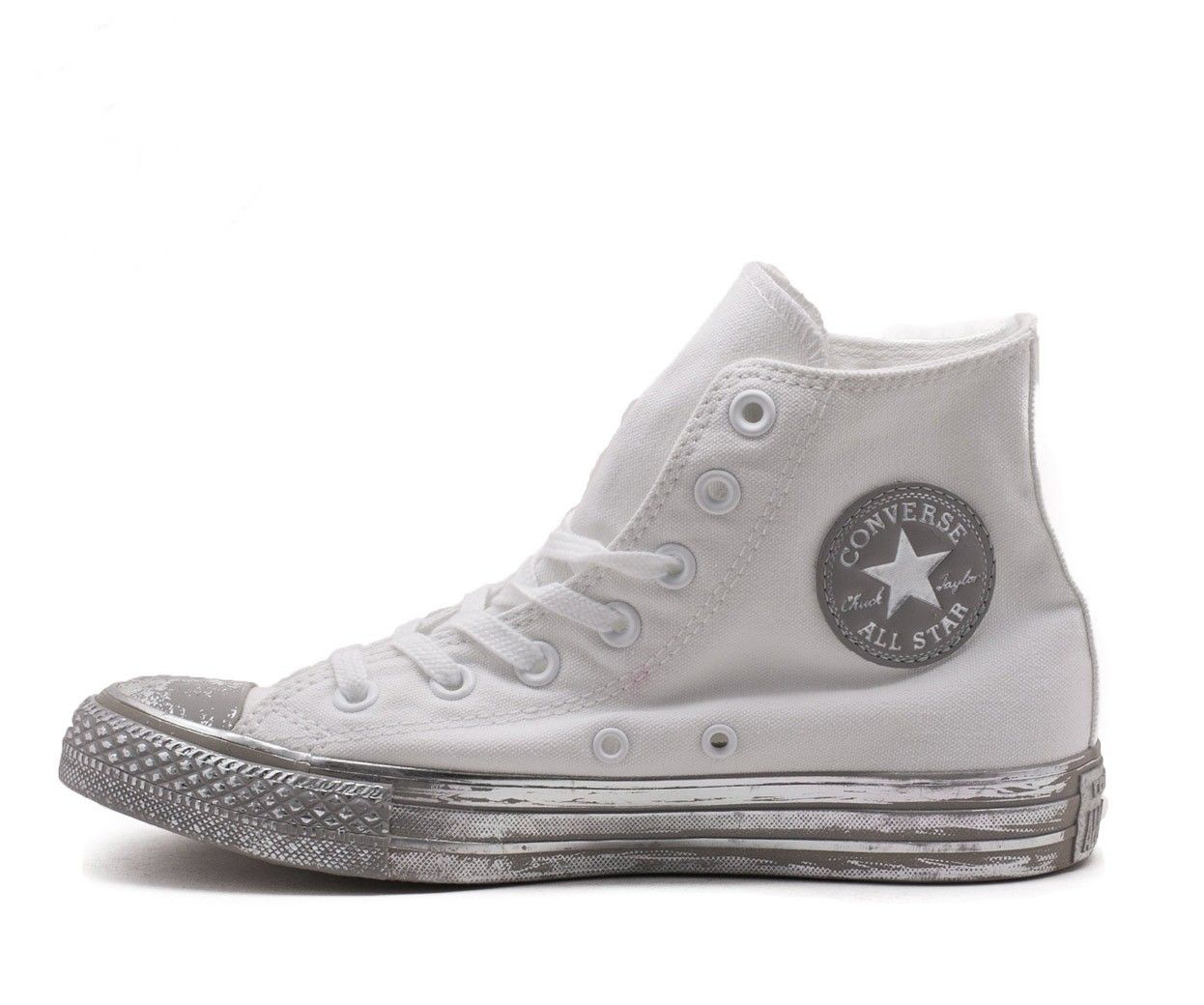 Sneaker Converse All Star 156769c ctas hi white silver black summer 2017