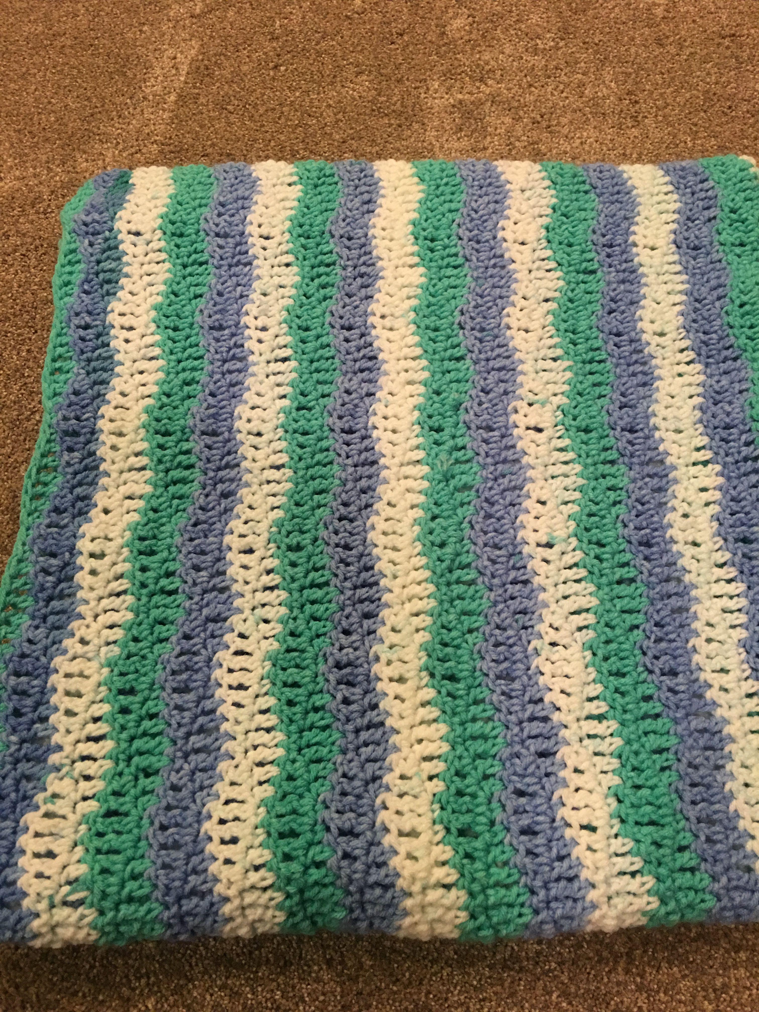 Premier Sweet Roll Yarn Soft Waves Crochet Blanket Pattern