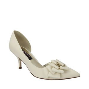 Nina Brynn Ivory Luster Satin Womens Holiday Gift Guide Wholesale Holiday Shoes Sweet Styles Neutrals Nina Womens Ivory Shoes Nina Shoes Fashion Shoes