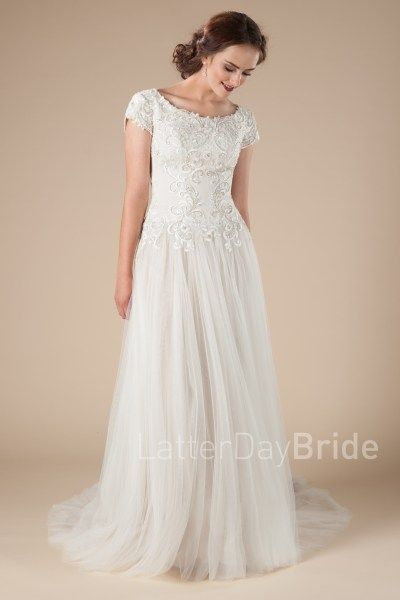 mormon wedding dresses with beaded dropped waist, Equestria at ...