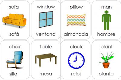 Spanish And English Vocabulary Home And Household Items Spanish To English Idioms Spanish Flashcards Spanish Vocabulary Flashcards