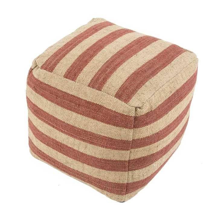 Jaipur Pof10011 Mason Modern Cube Shape Wool Pouf With Images