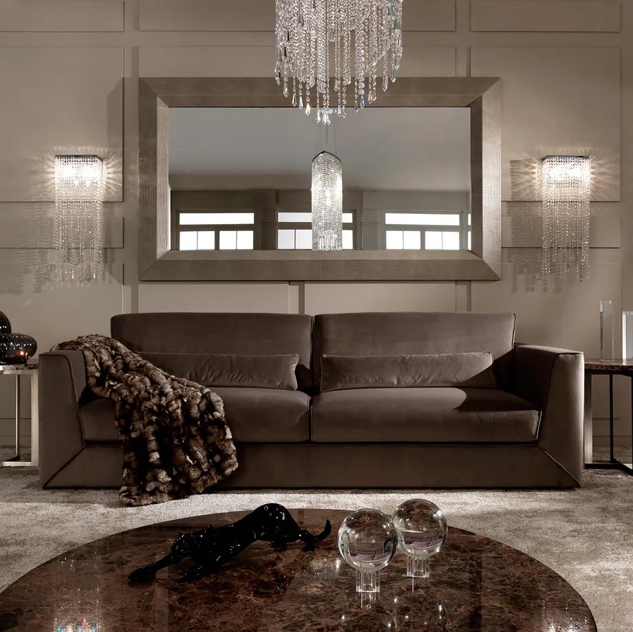 Exclusive Modern Italian Chocolate Brown Velvet Sofa ...