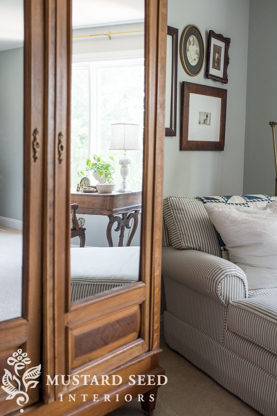 the melodeon French style bed, Master bedroom windows