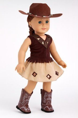 74f9a447d6f84 Cowgirl - Clothes for 18 inch Doll - 4 Piece Outfit - Cowgirl Hat ...