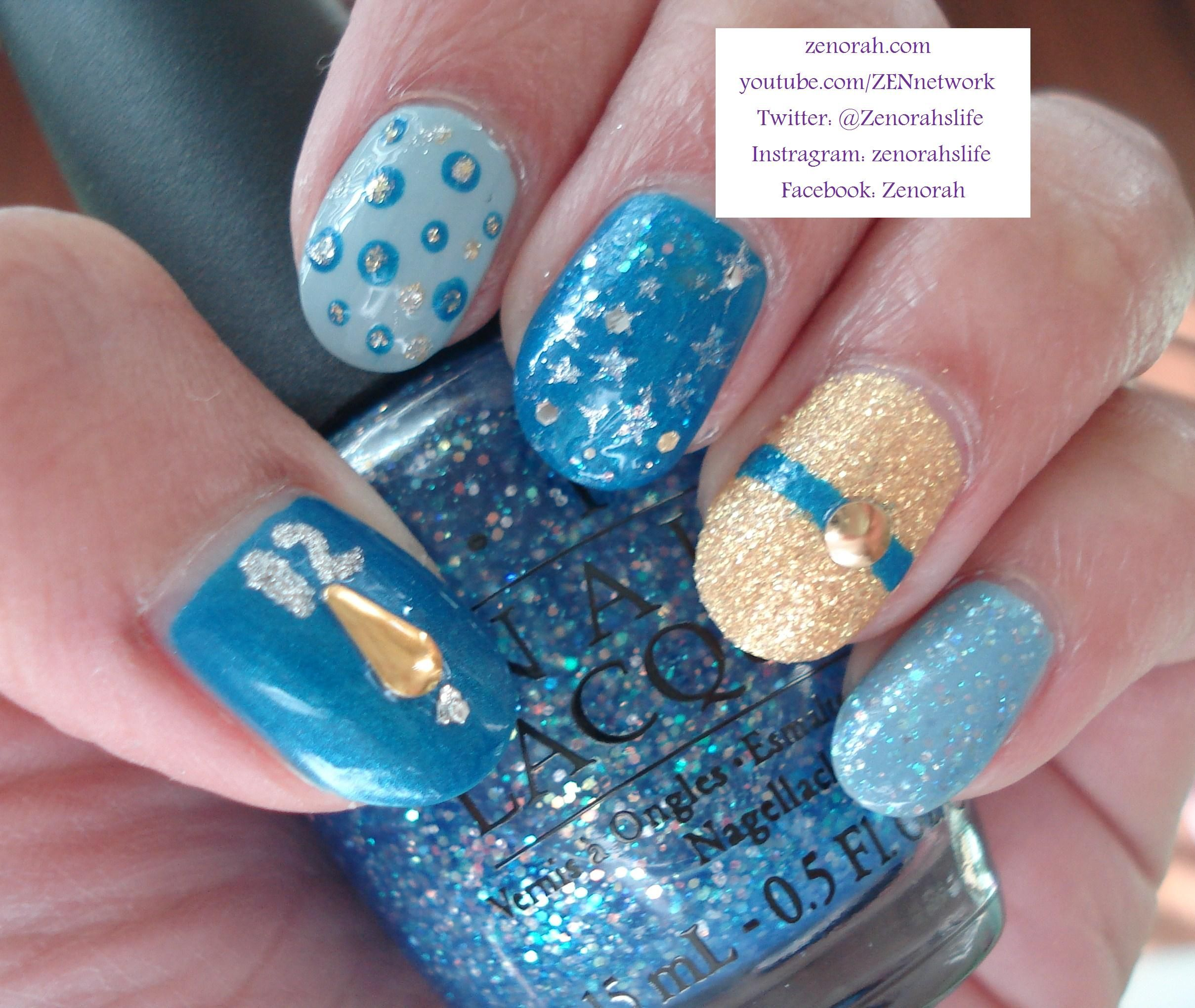 cinderella nail design - Google Search   Inspired by the new ...