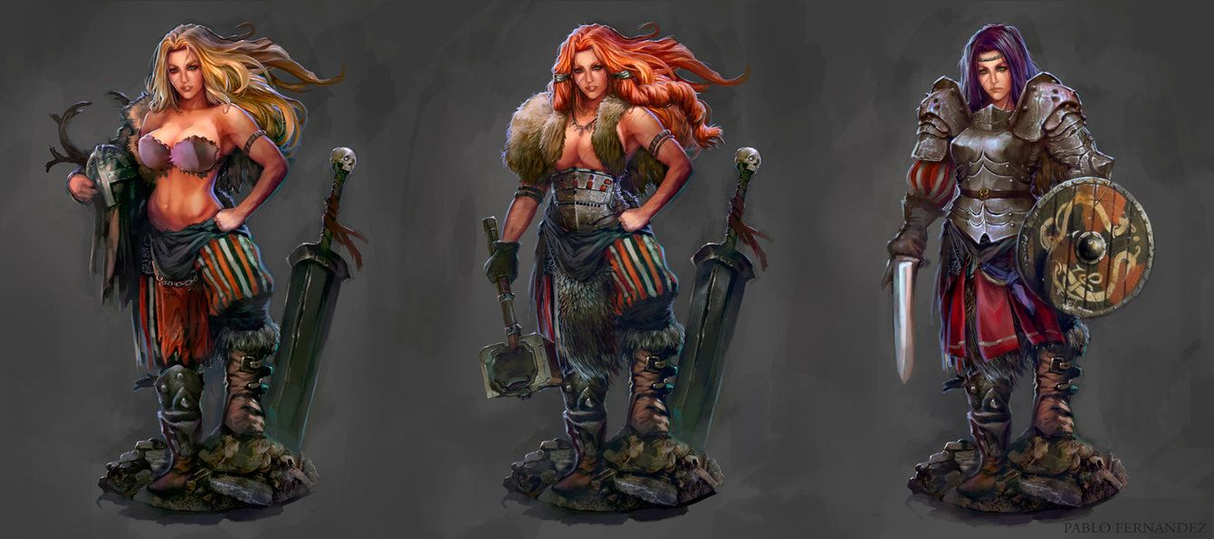 Barbarian-warrior concept art by PabloFernandezArtwrk.deviantart.com on @DeviantArt
