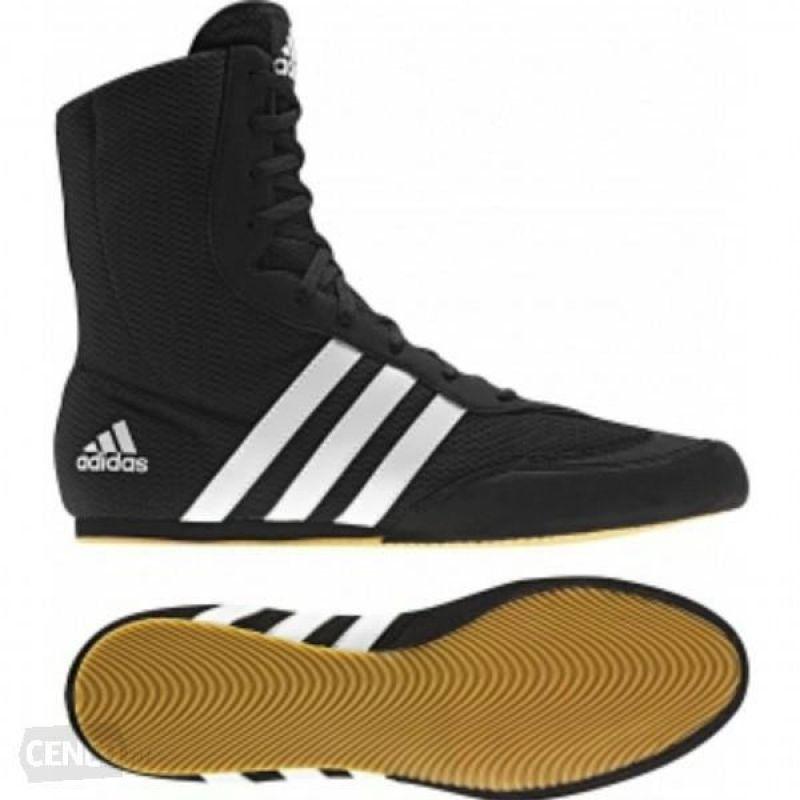 Buty Bokserskie Adidas Box Hog Ii Brazowe Czarne Boxing Boots Boxing Shoes Black Boots
