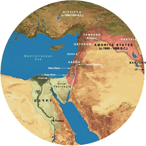 amorites  Mapof Middle East 1850 to 1500 BC  Places to Visit