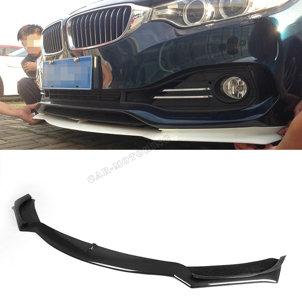 4 Series F32 Car-Styling Carbon Fiber Front Lip Bumper Spoiler For BMW F32 Standard Bumper Only 2014UP