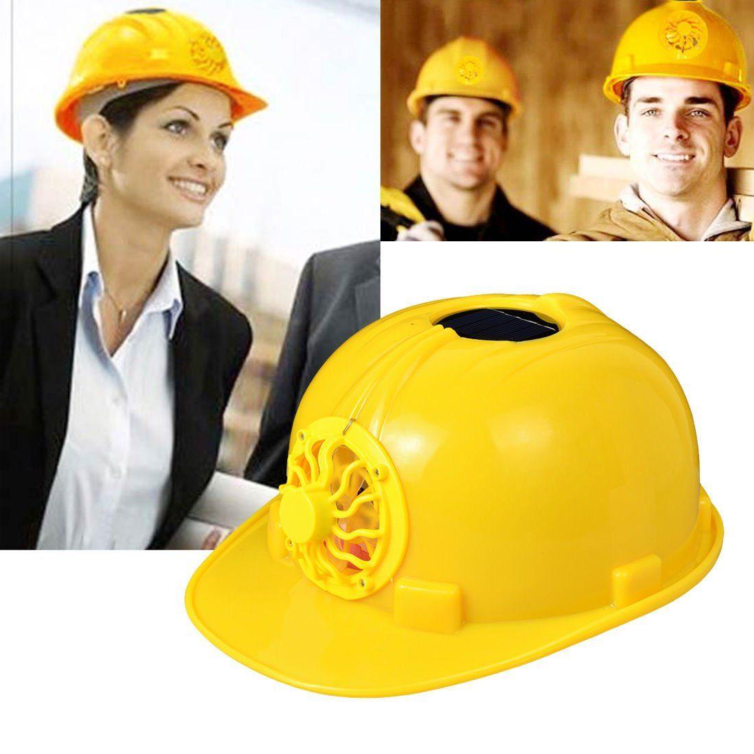 Gene Gag Gift Sinuote Yellow Hardhats Solar Powered Safety Helmet
