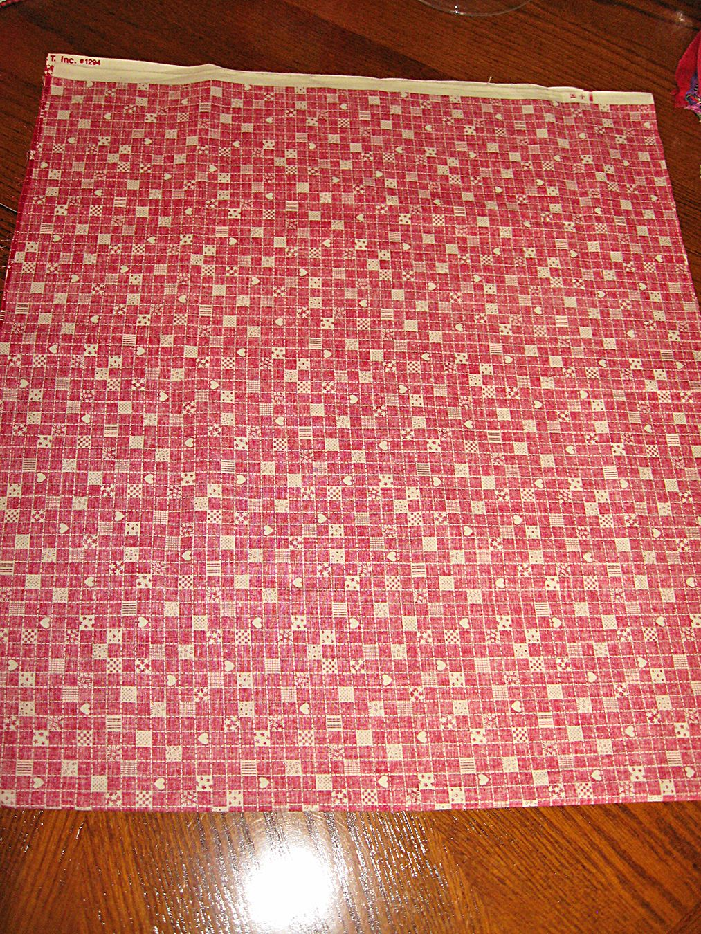 1 Fold Fabric Rectangle