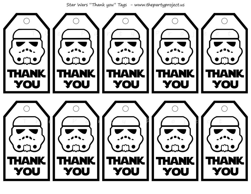 image relating to Stormtrooper Printable named THE Social gathering Job Star wars thank your self tags! occasion