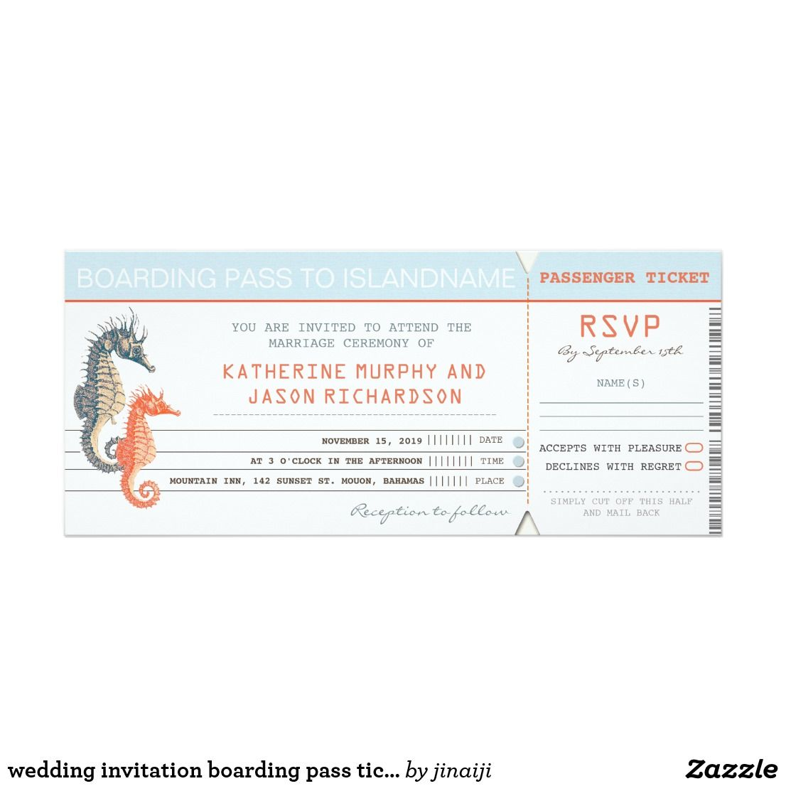 Wedding invitation boarding pass tickets pinterest boarding pass wedding invitation boarding pass tickets stopboris Gallery