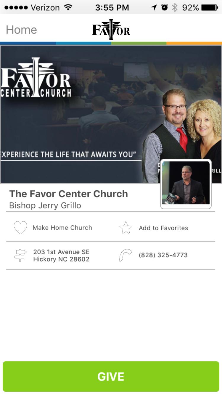 The Favor Center Church in Hickory, North Carolina