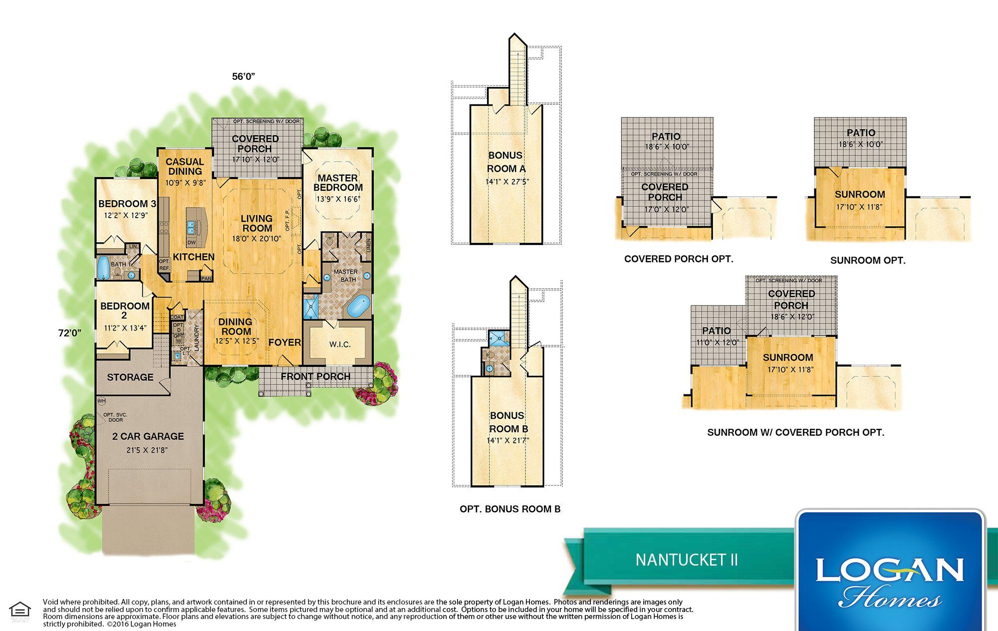 Nantucket Ii Floor Plan Models Logan Homes Floor