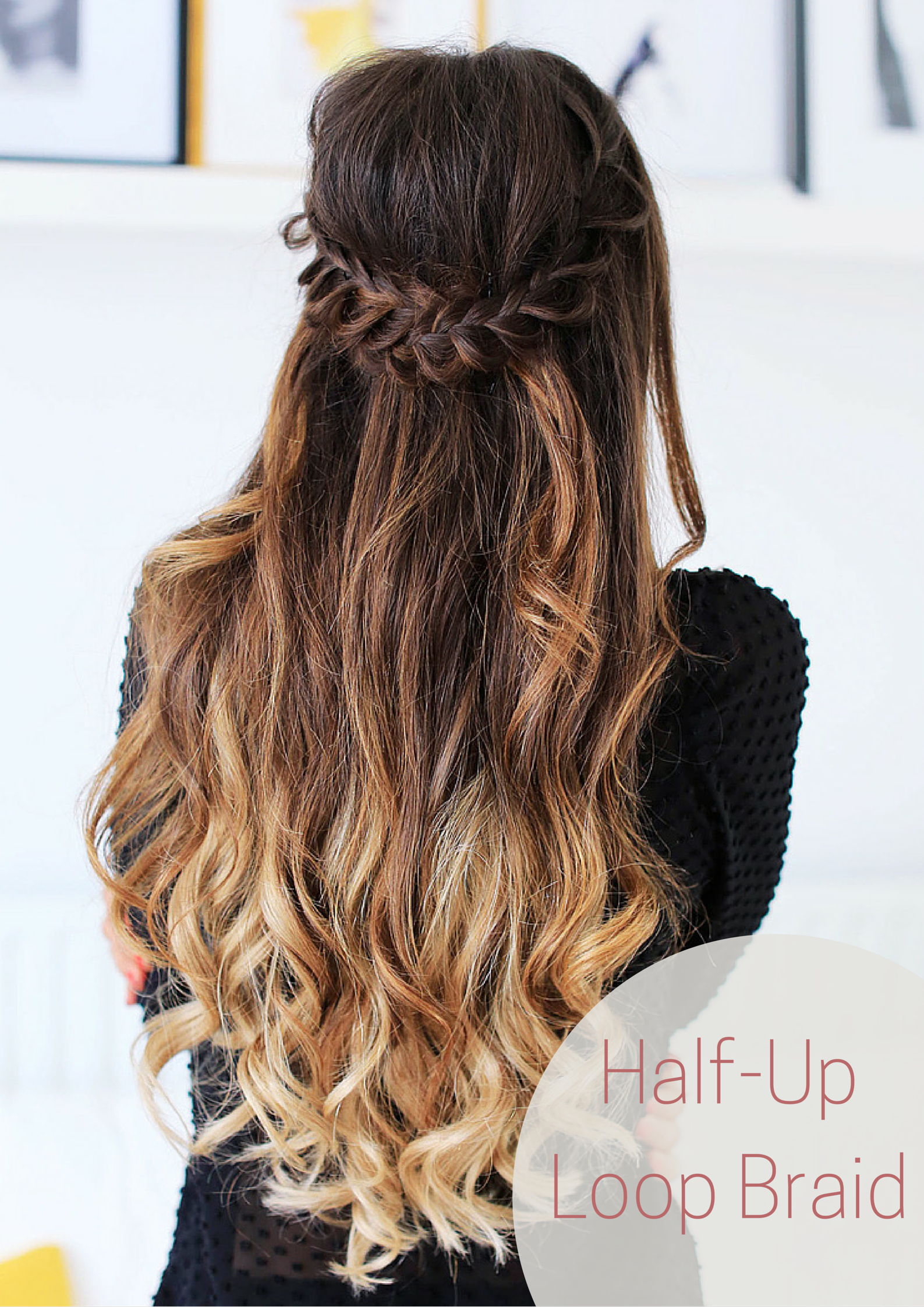 Half Up Loop Braid Created With Ombre Blonde Luxy Hair Extensions By The Gorgeous Mimiikonn Love This Simple Elegant Ever Hair Styles Luxy Hair Hair Tutorial