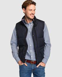 colección completa mejor sitio web duradero en uso Chaleco de abrigo de hombre Tommy Hilfiger acolchado azul ...