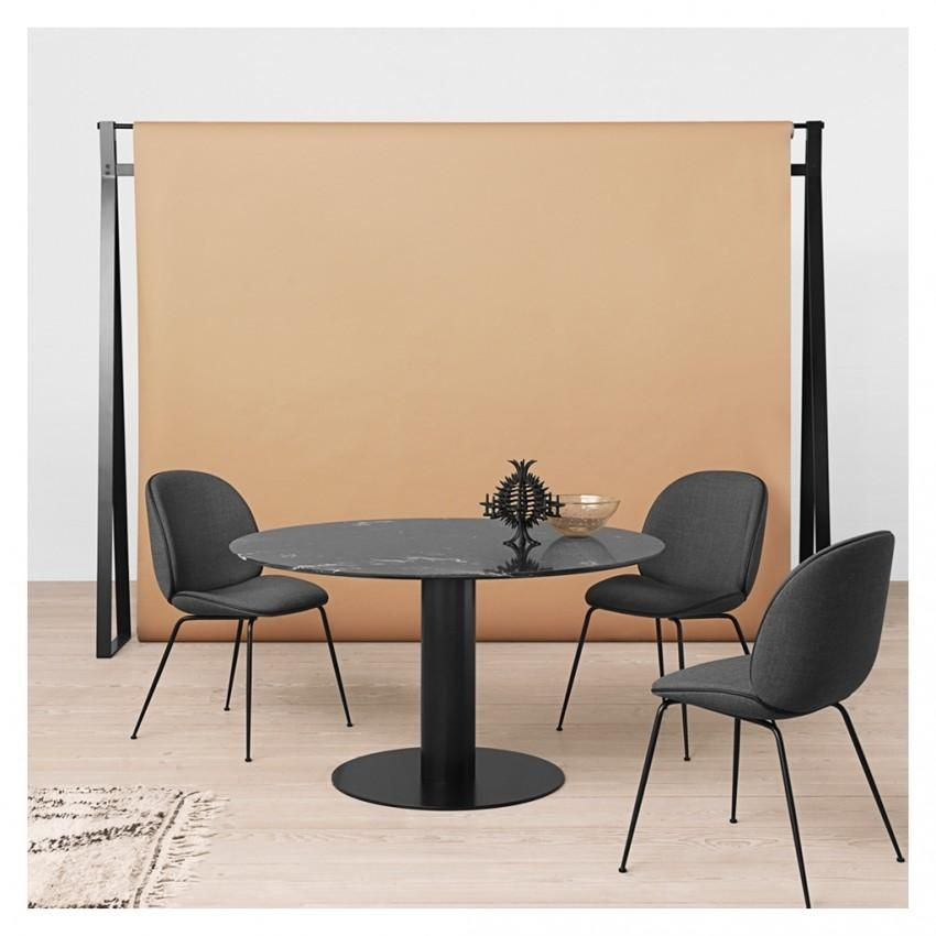 2 0 Round Dining Table O130 W Antique Brass Base By Gubi Dining