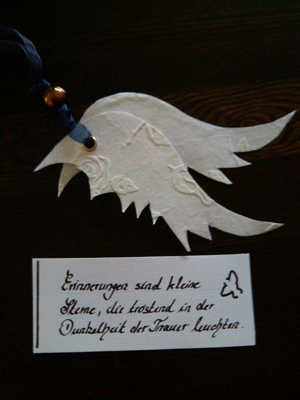 Beau Flügel Mit Spruch Für Trauerkarte