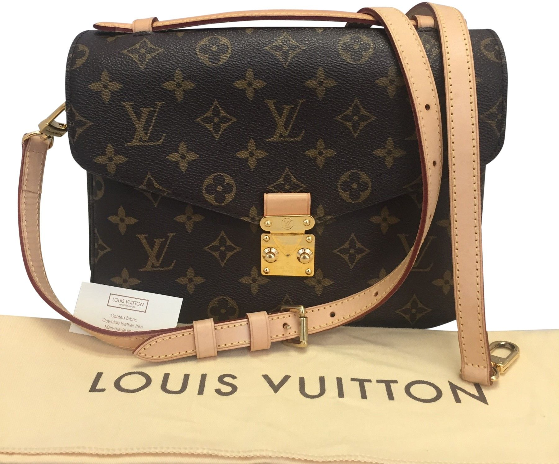 Louis Vuitton Metis pochette with replaced leather strap  b5c234ae215c3