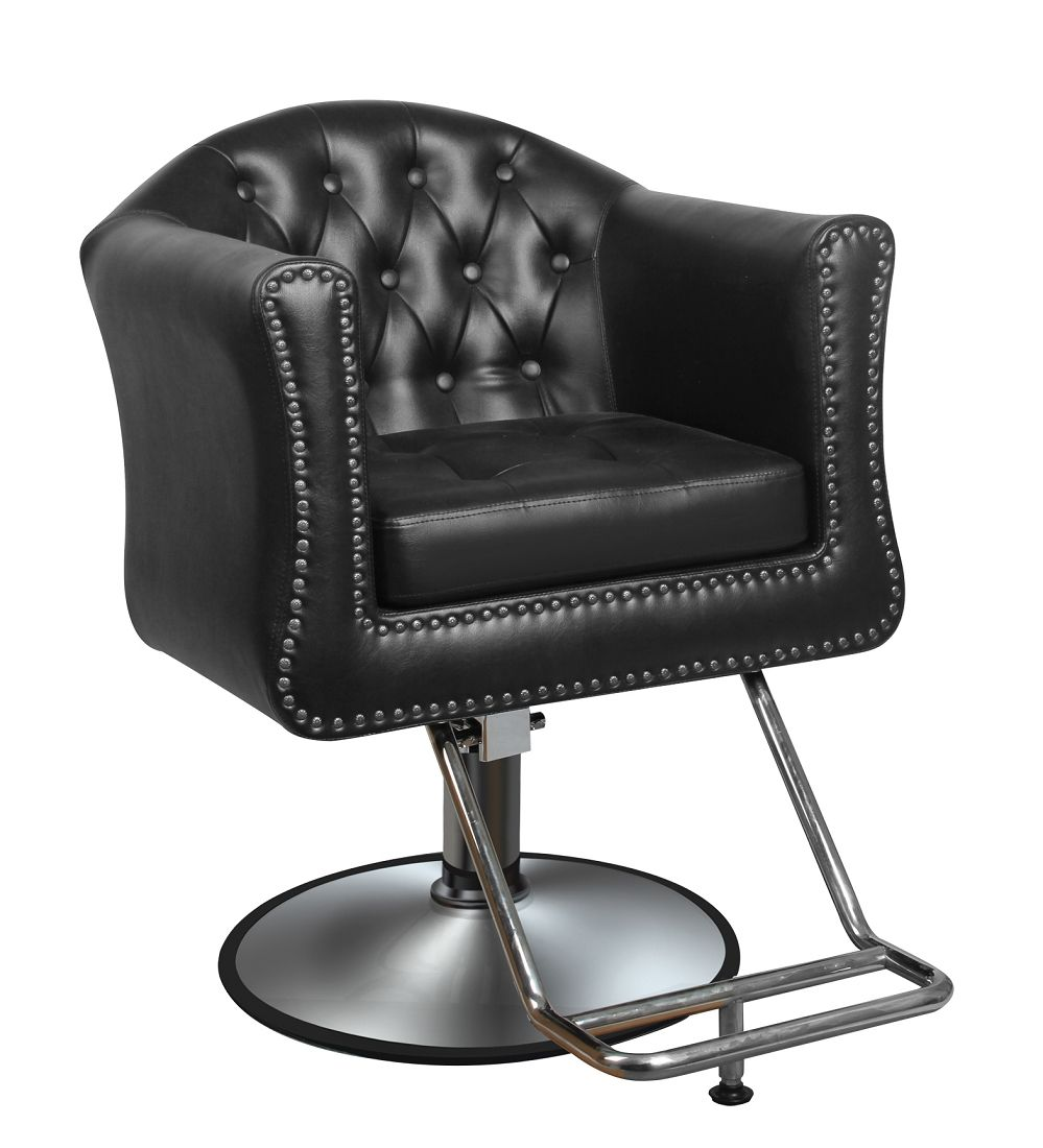 Westyn Hair Salon Or Barber Chair In Brown Or Black Free Shipping Salon Styling Chairs Chair Style Salon Chairs