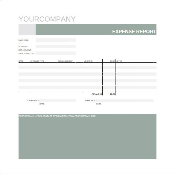 Expense Report Spreadsheet Template   Budget Template Google