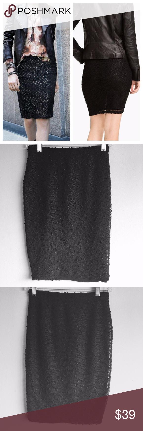 Selling this $99 NWOT XS Sanctuary Boucle Pencil Skirt Black on Poshmark! My username is: deh_sale. #shopmycloset #poshmark #fashion #shopping #style #forsale #Sanctuary #Dresses & Skirts