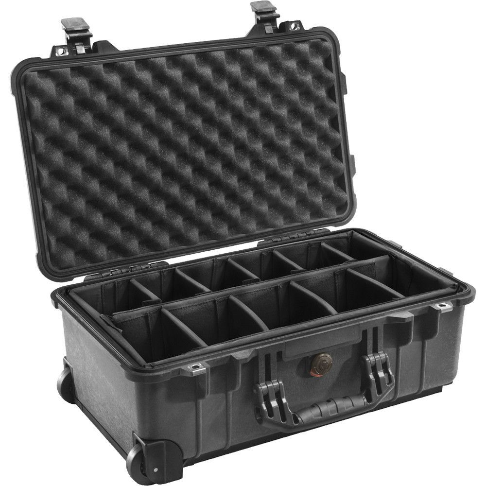 Pelican 1510 CarryOn Case w/Padded Dividers Black