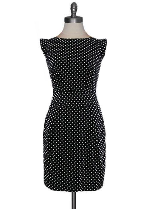 polka dot Dress in Black