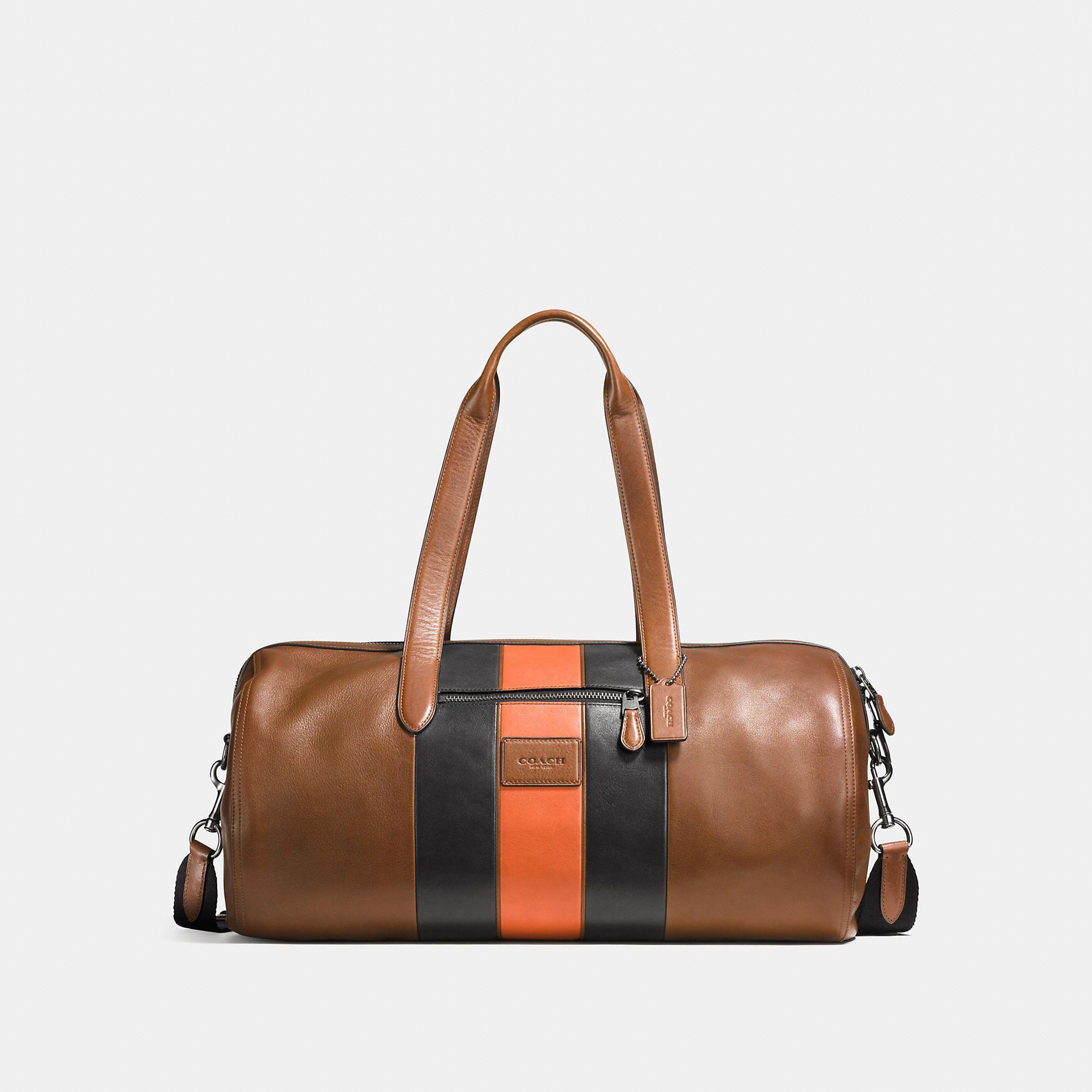 038f16ea4bb9 COACH Men s Metropolitan Soft Gym Bag With Varsity Stripe