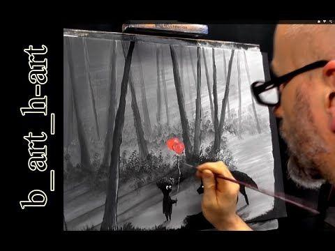 Malen Mit Acrylfarben Waldlandschaft In Wenigen Minuten