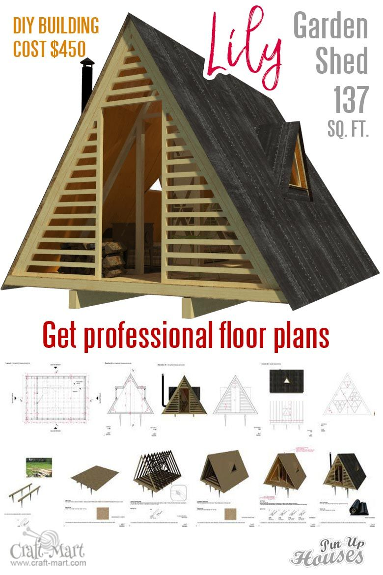 Small Unique House Plans A Frames Small Cabins Sheds Craft Mart A Frame House Shed Floor Plans Small House Plans
