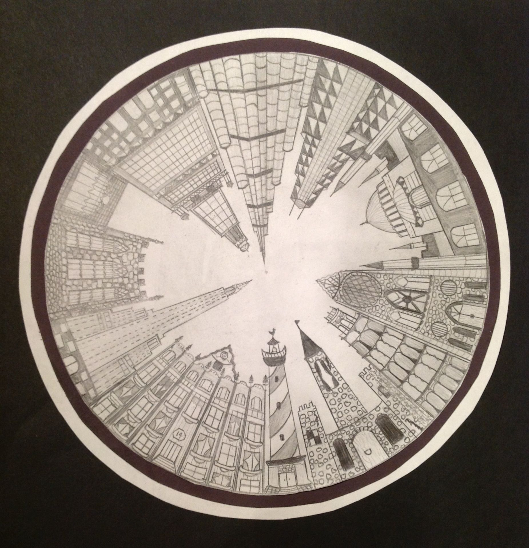 The Smartteacher Resource 1 Point Perspective City Could