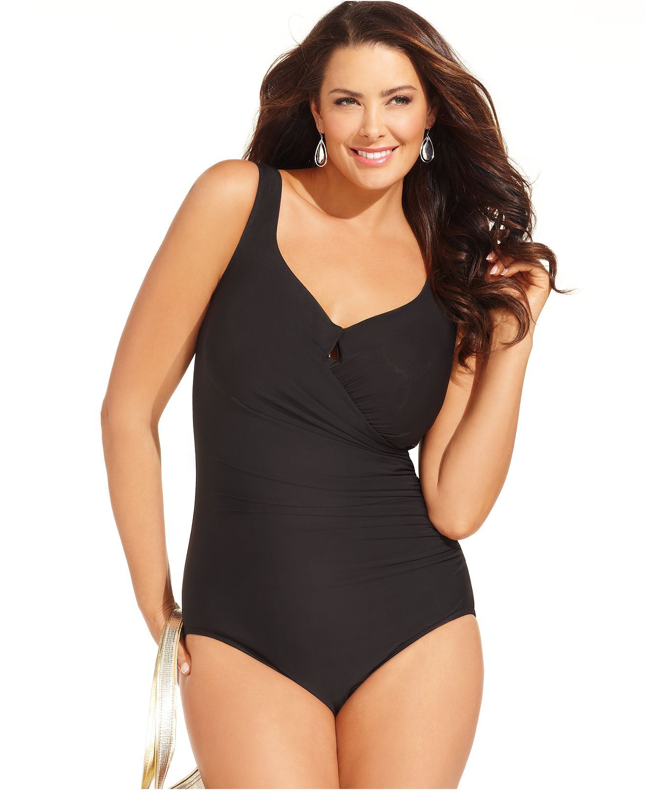 b258963ebc2dd Miraclesuit Plus Size Swimsuit, Escape One-Piece - Plus Size Swimwear - Plus  Sizes - Macy's
