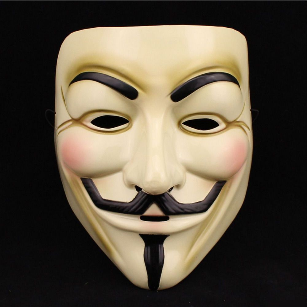 Funny Cosplay V Vendetta Mask Guy Fawkes Anonymous Halloween Fancy Dress Hot