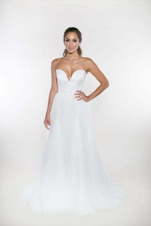 Juliet Lane Heidi Elnora Atelier Petite Wedding Dress Wedding Dresses Whimsical Simple Wedding Dress Strapless [ 1500 x 1000 Pixel ]