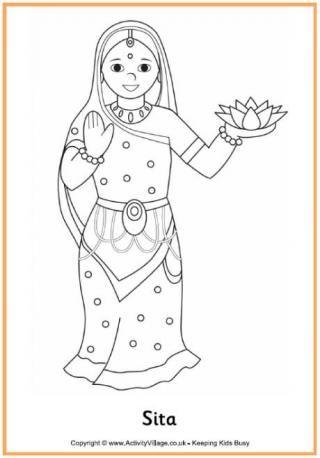 sita colouring page