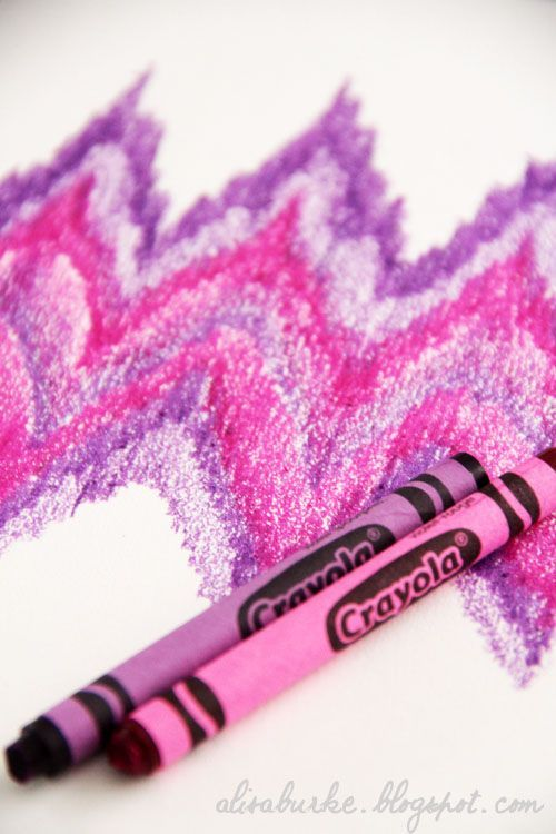Crayon creativity - ideas to use with crayons and watercolors