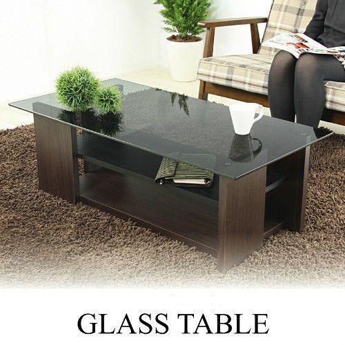 Merveilleux Glass Top Center Table Modern Coffee Shelf Brown MDF Wood SO 100BR Azumaya  Japan #AzumayaJapan #Modern