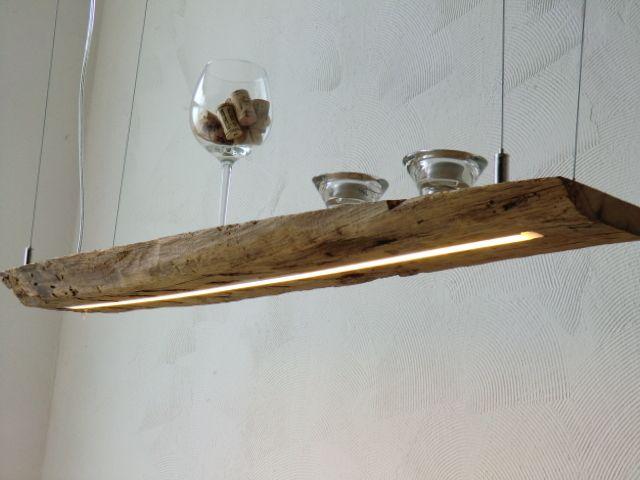 Hängelampe+aus+antiken+Balken+LEDs+warmweiss+von+PeKa-+Ideen+auf+DaWanda.com