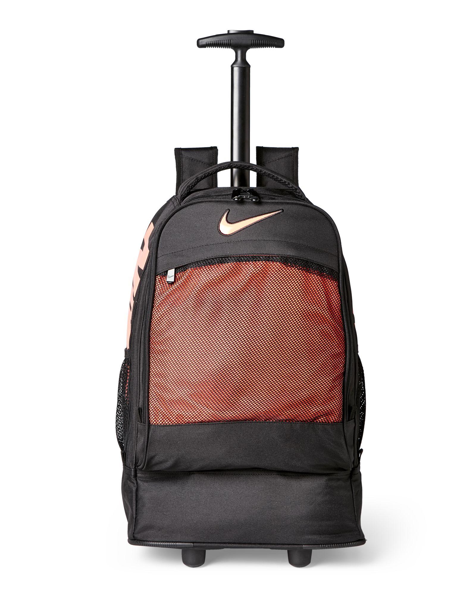 234946bcd6 Nike Black   Orange Wheeled Backpack